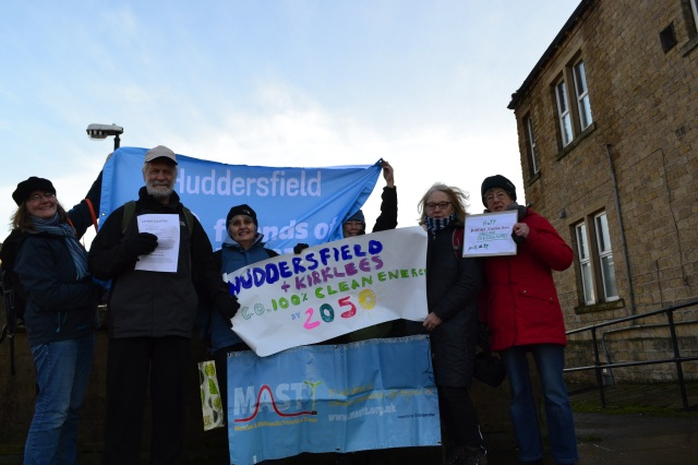HoTT, MASTT and Huddersfield FoE supporters calling for 100% clean energy target