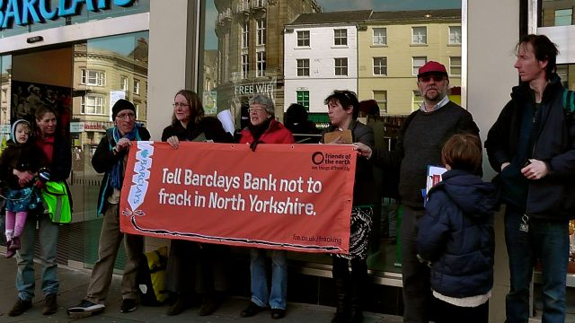 Stop Barclays Yorkshire Fracking plans