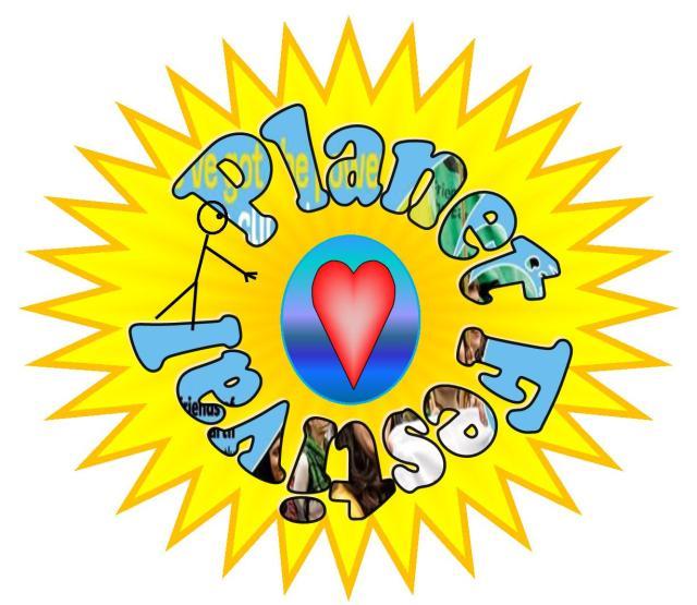 Huddersfield Friends of the Earth planet festival logo