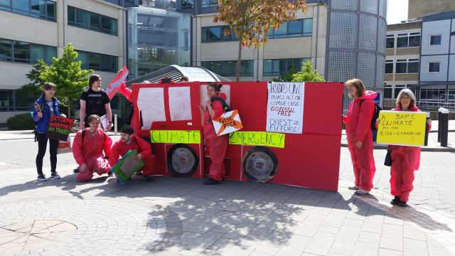 Climate Emergency Fire Engine at Huddersfield University