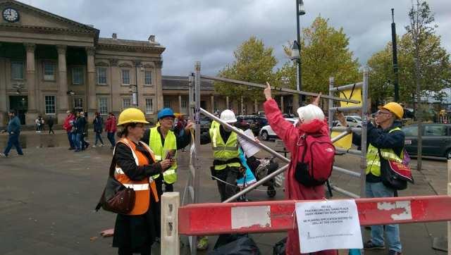 Fracking site Huddersfield